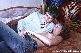 Gentle juicy inexperienced teenage nailed